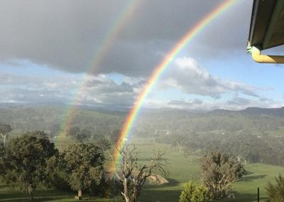 magical rainbow from Acacia cottage
