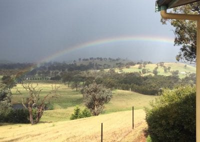 rainbow view from acacia cottage